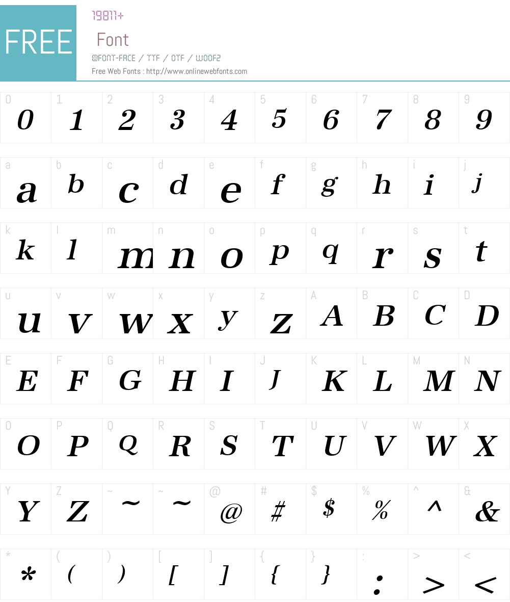 URWAntiquaTMed Font Screenshots