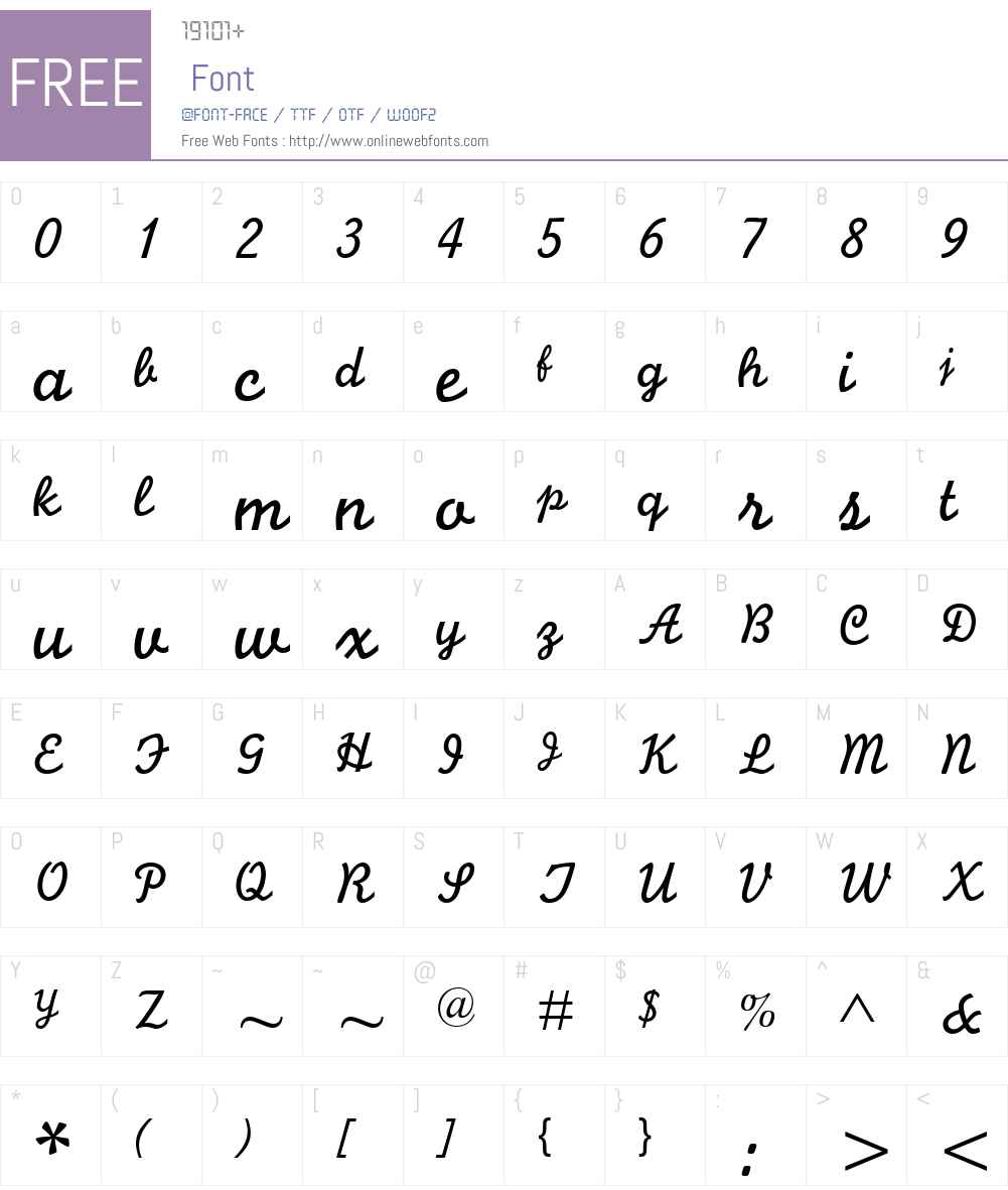 Monoline Script MT Font Screenshots