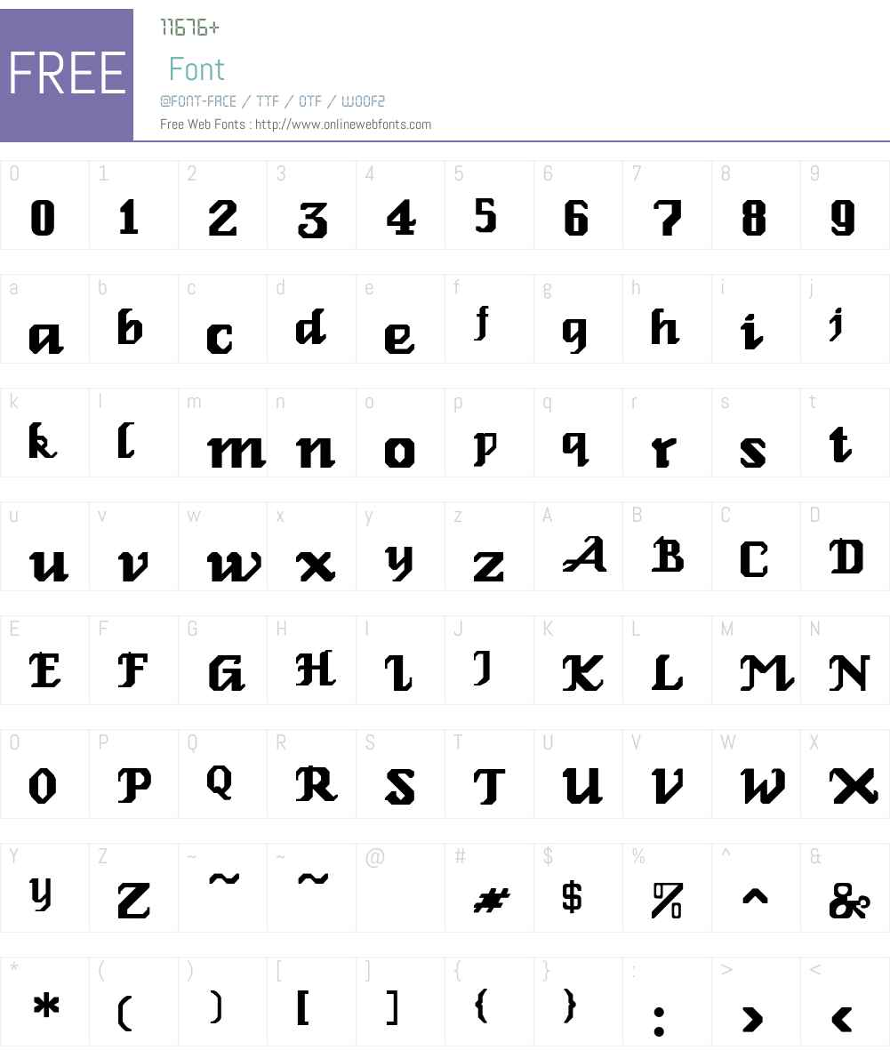 Relbe-Roman Font Screenshots