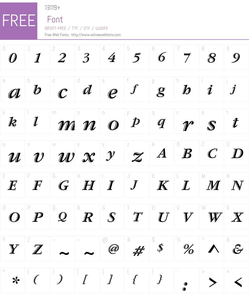 ITC Garamond Handtooled Font Screenshots