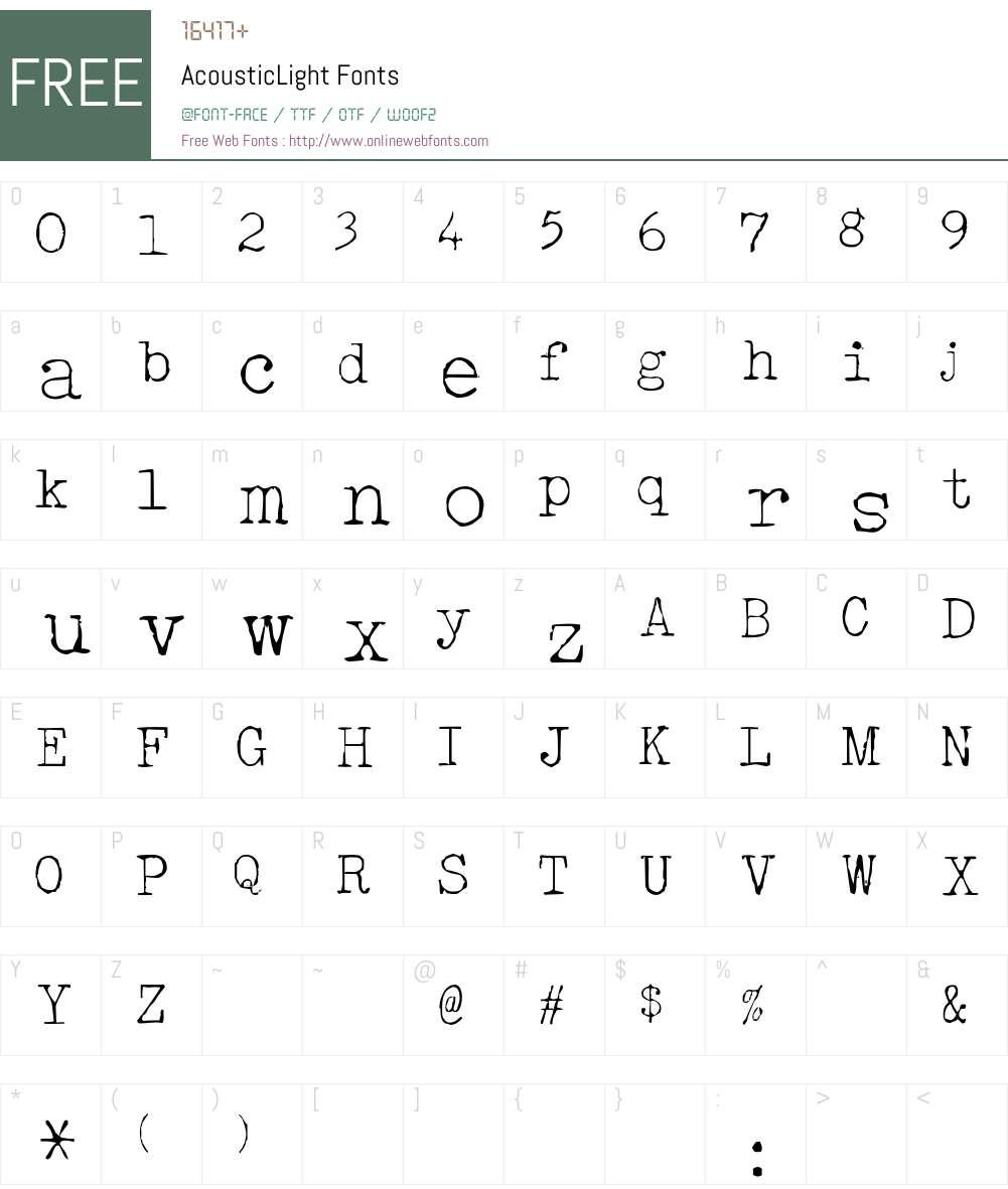 AcousticLight Font Screenshots
