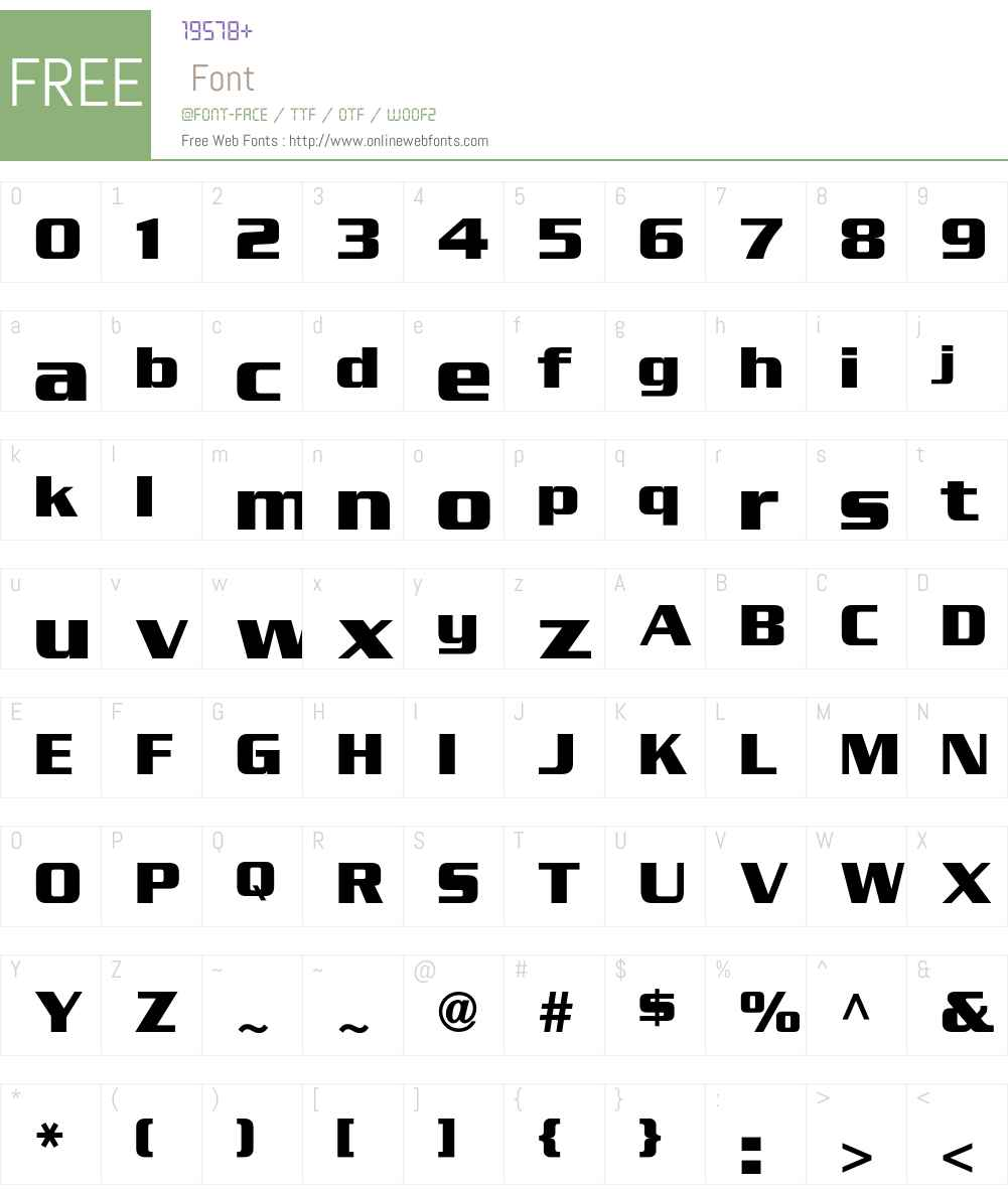 SerpentineSansICG Font Screenshots