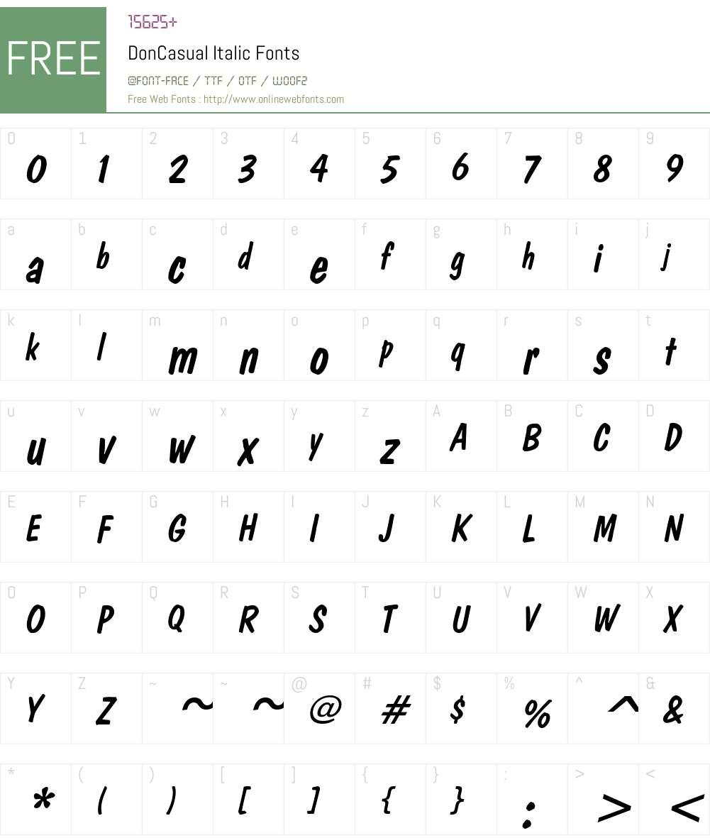 DonCasual Font Screenshots