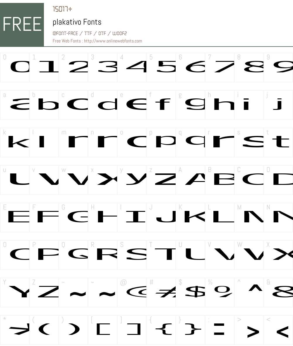 plakativo Font Screenshots