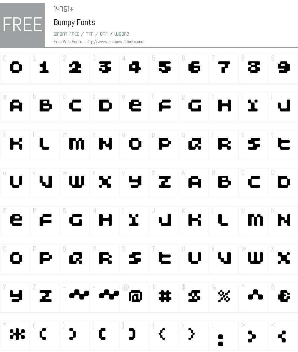 Bumpy Font Screenshots