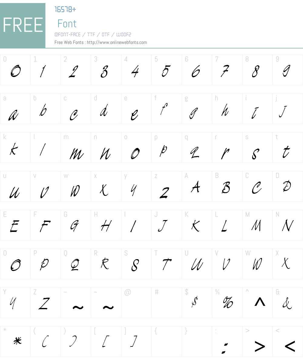 DemianW00 Font Screenshots