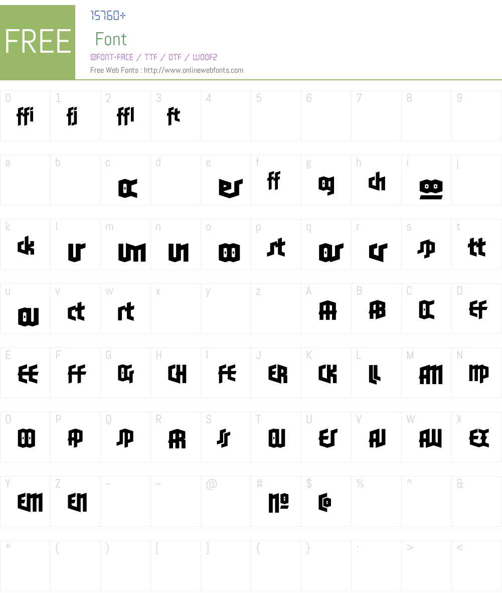 BlackletterSnsW90-TwoLigBd Font Screenshots