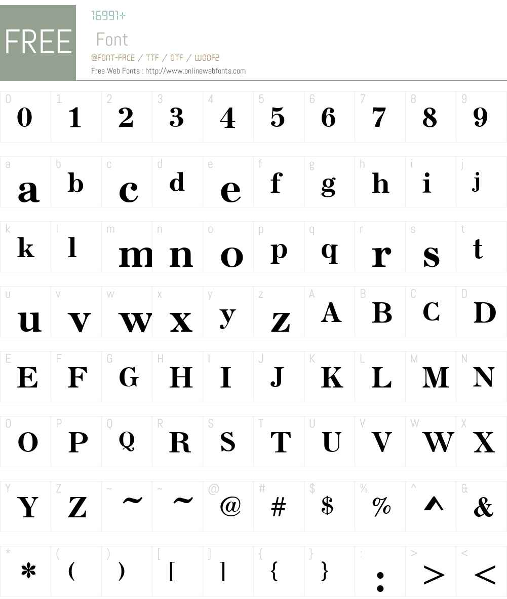 Seizieme Font Screenshots