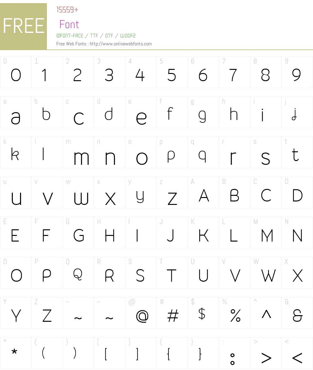 Malina Font Screenshots
