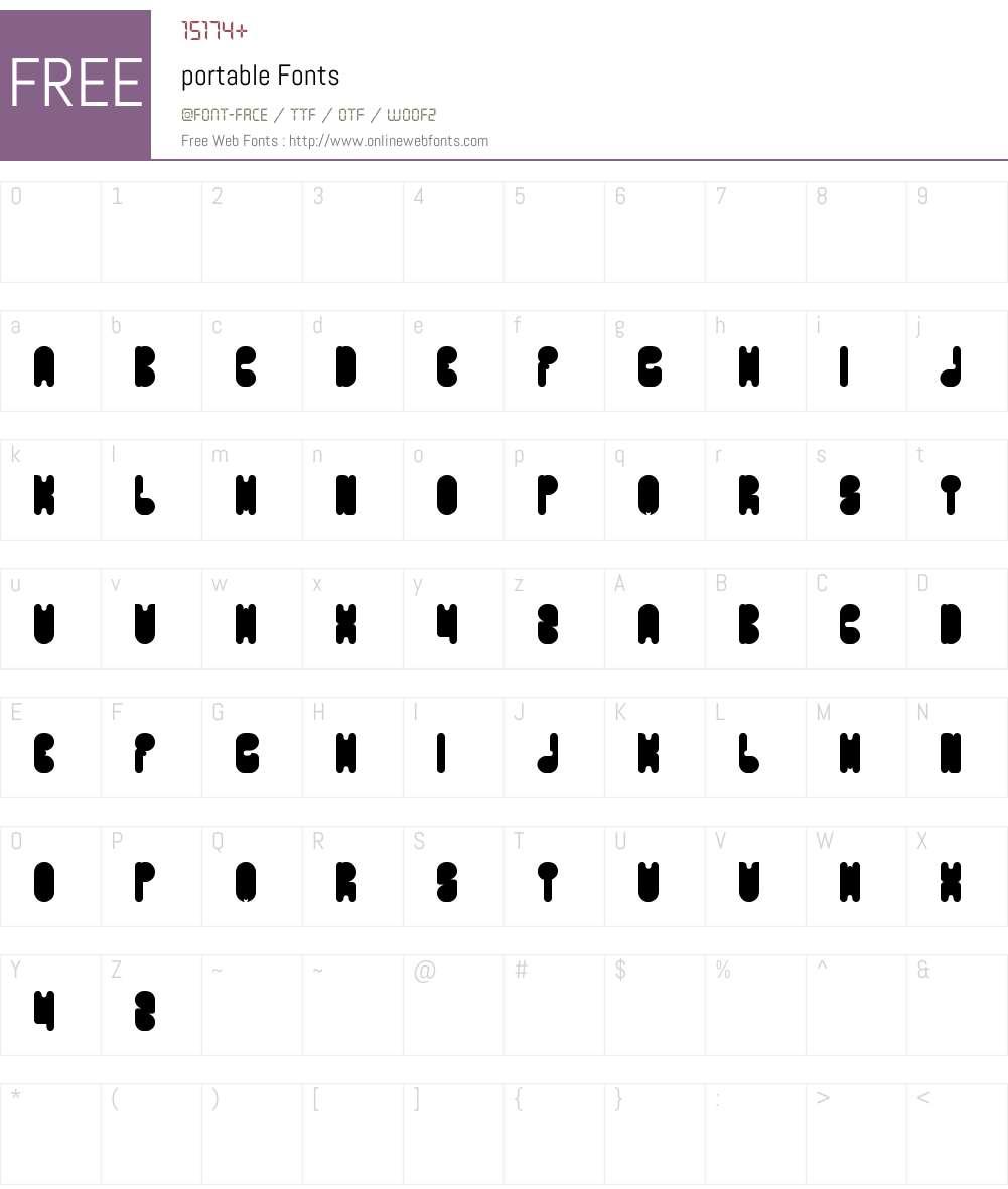 portable Font Screenshots