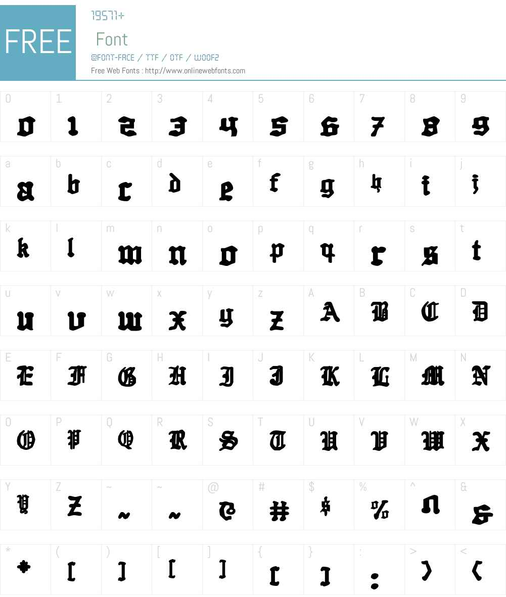 Quest Knight Font Screenshots