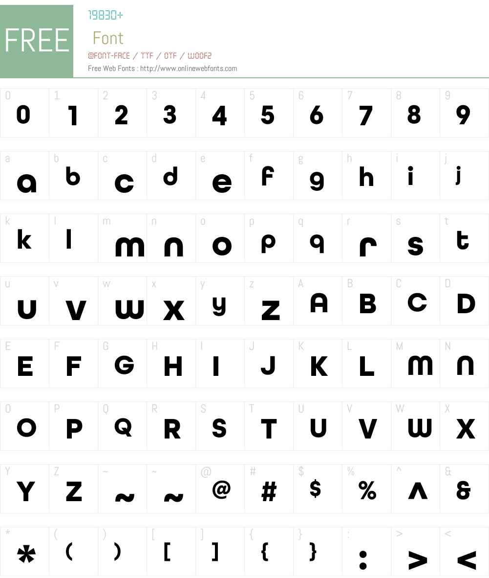 AllRoundGothicW01-Bold Font Screenshots