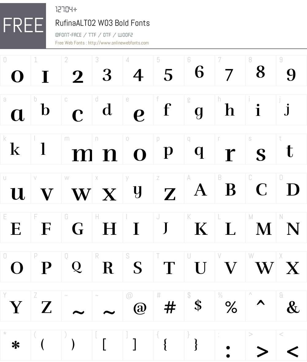 Rufina Font Screenshots