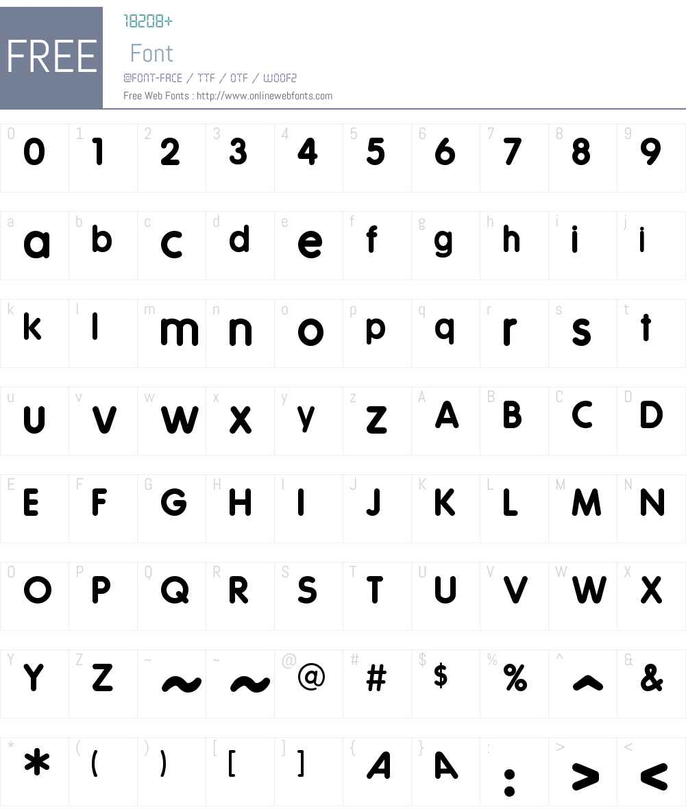 Coverface SE Font Screenshots