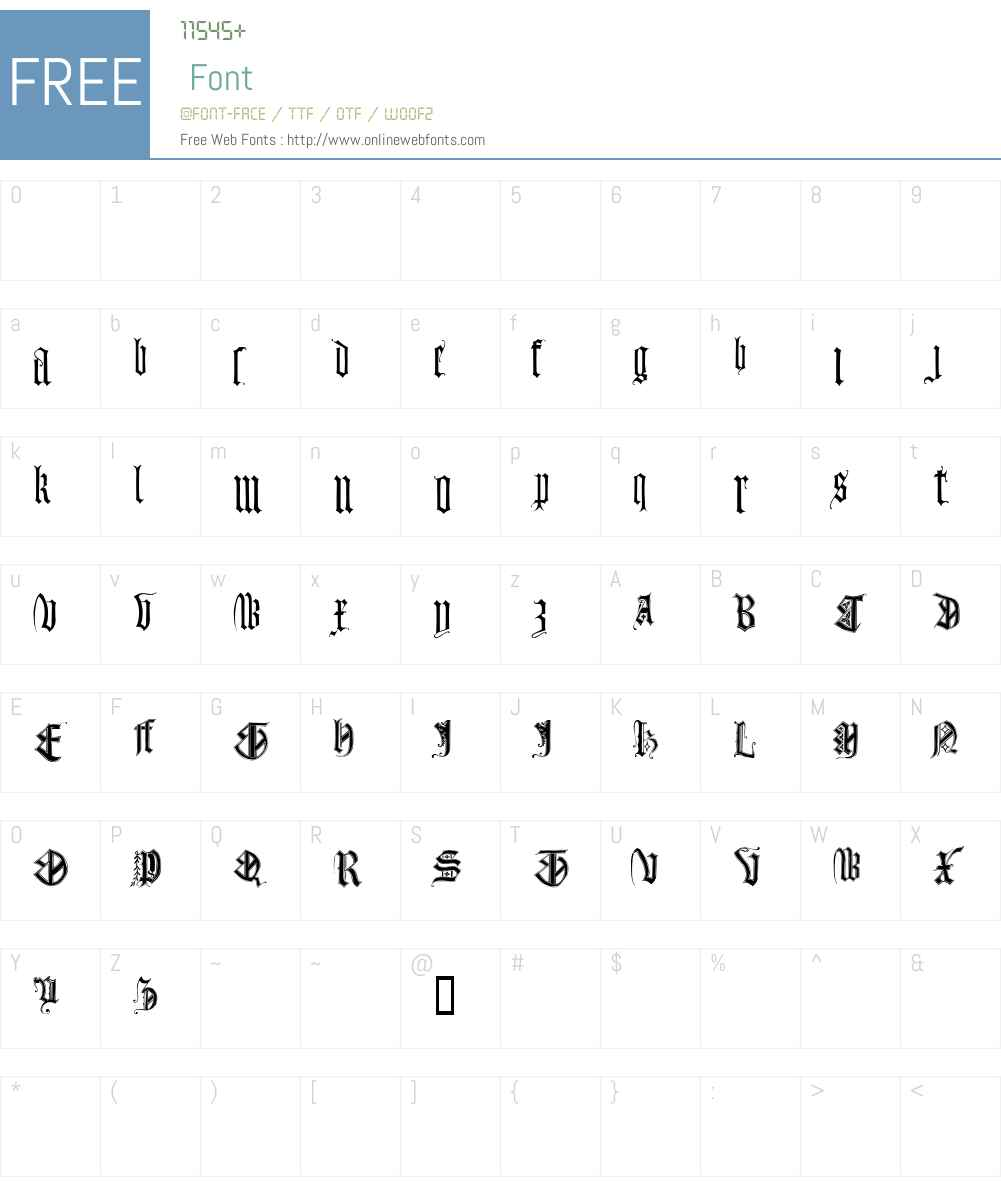 Monumental Gothic Demo Font Screenshots