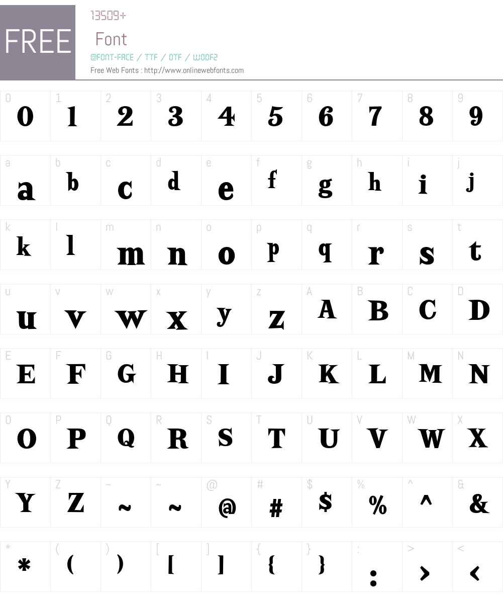 ScrewbyW01-CndBlk Font Screenshots