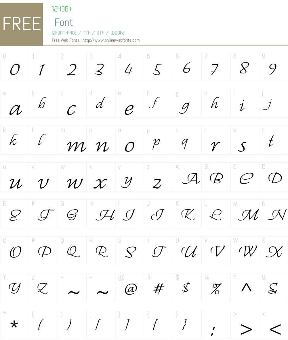 Regallia ITC Std Font Screenshots