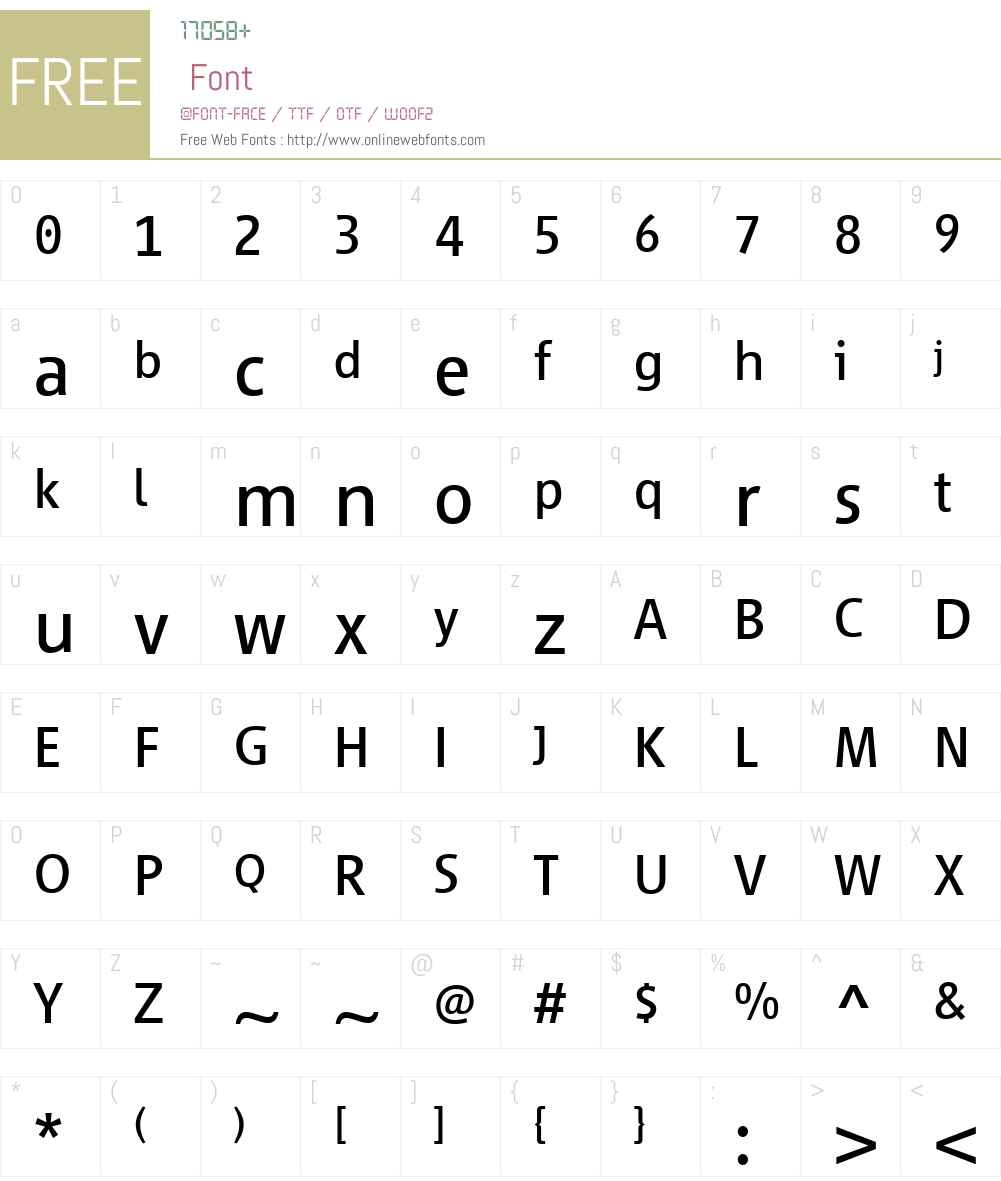 Vialog 1450 Font Screenshots