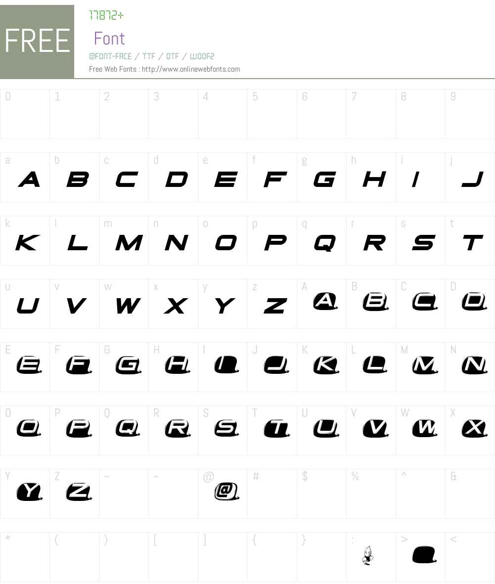 Tvdinner Font Screenshots