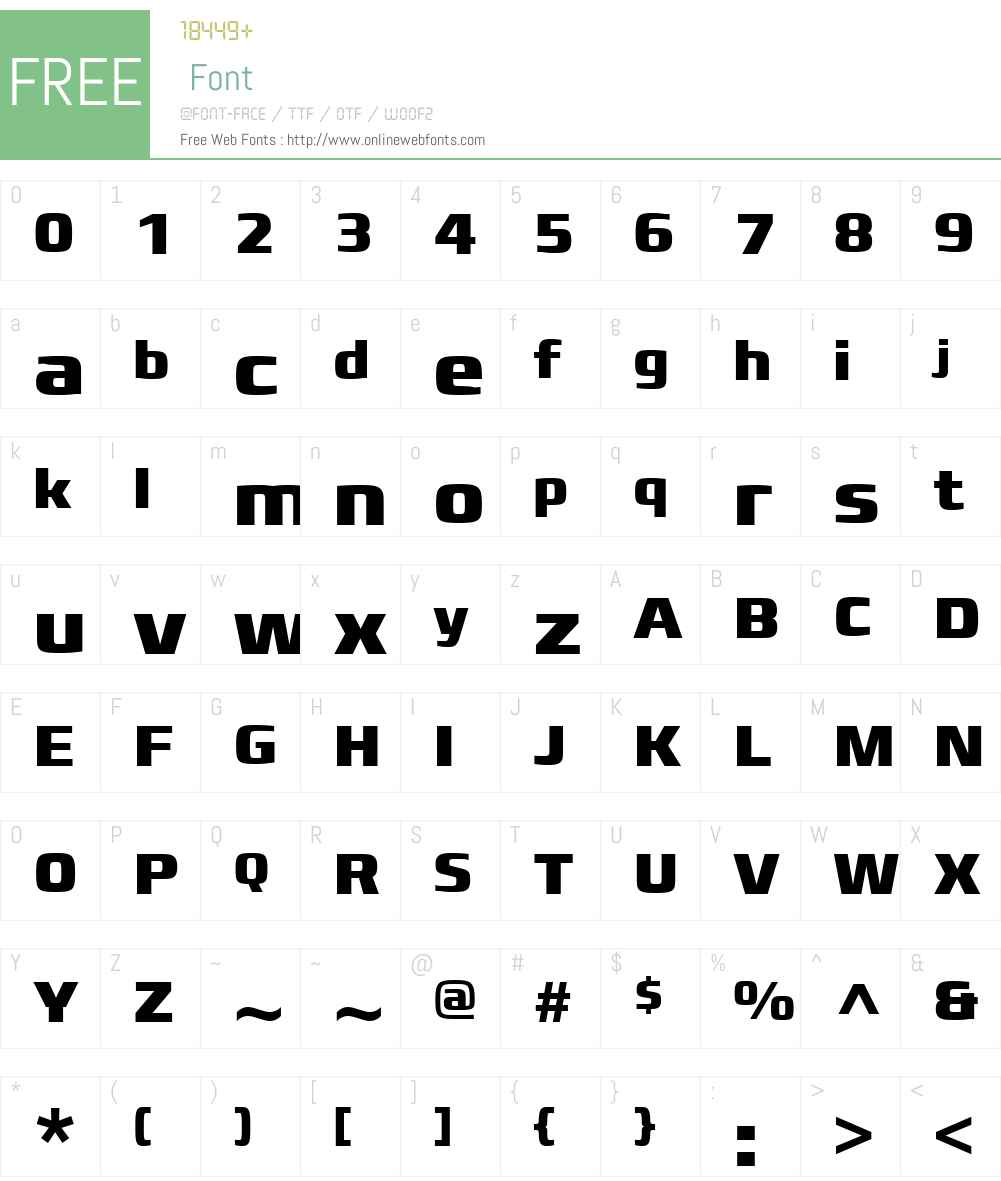 FranckerW01-ExtraBold Font Screenshots