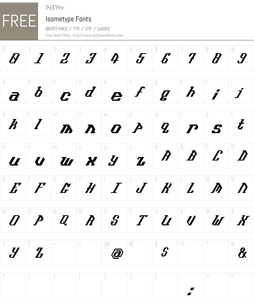 Isometype Font Screenshots