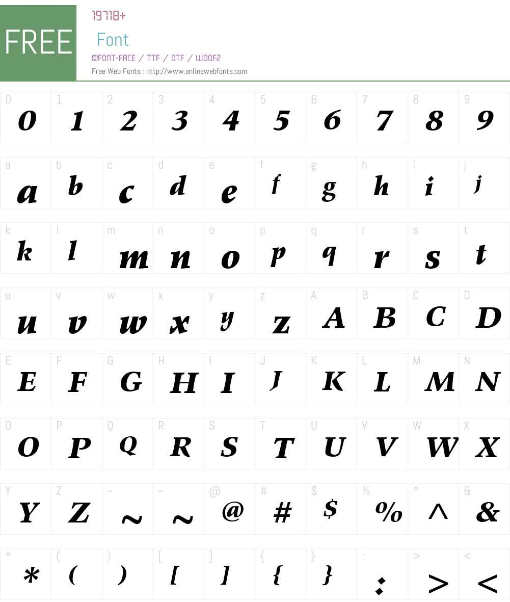 Wile Font Screenshots