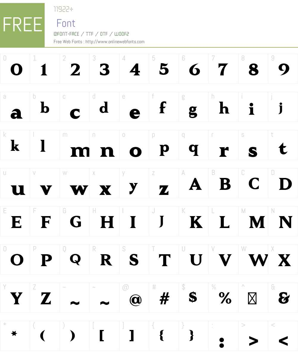 TautzW00-ExtraBold Font Screenshots