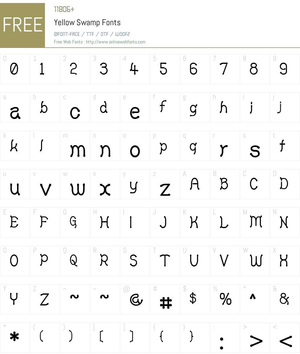 Yellow Swamp Font Screenshots