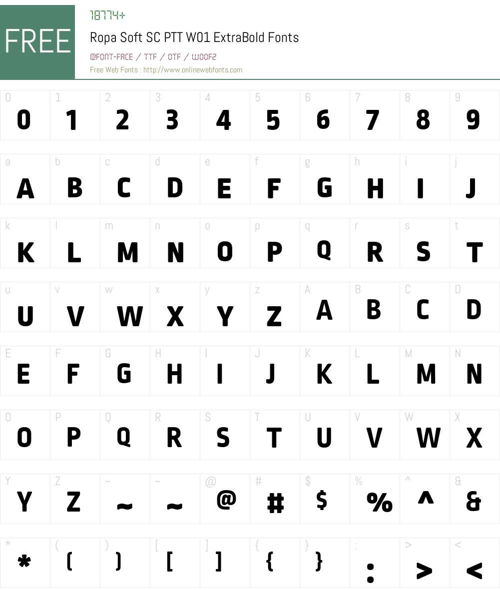 RopaSoftSCPTTW01-ExtraBold Font Screenshots