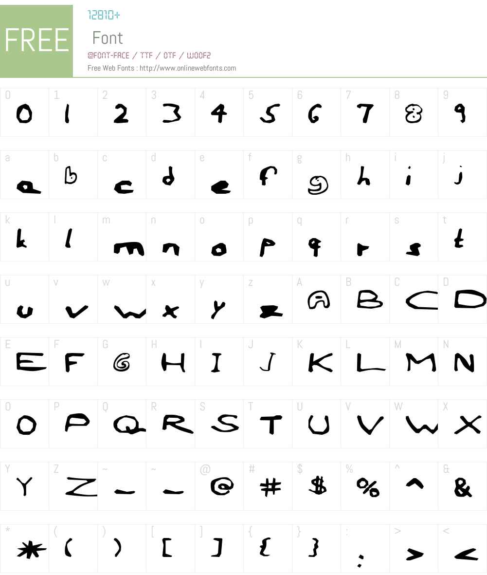 AEZ outline frenzy-1 Font Screenshots