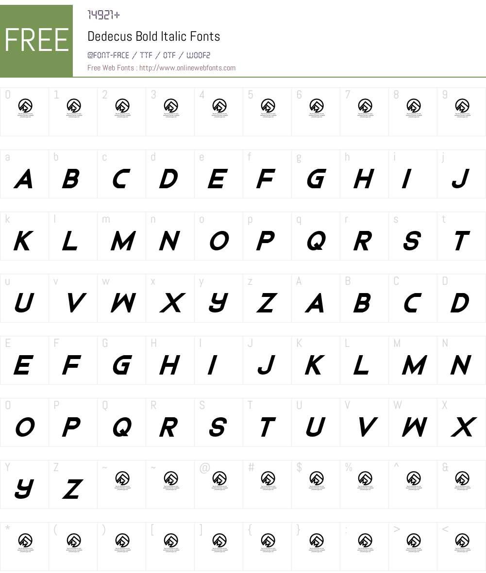 Dedecus Font Screenshots