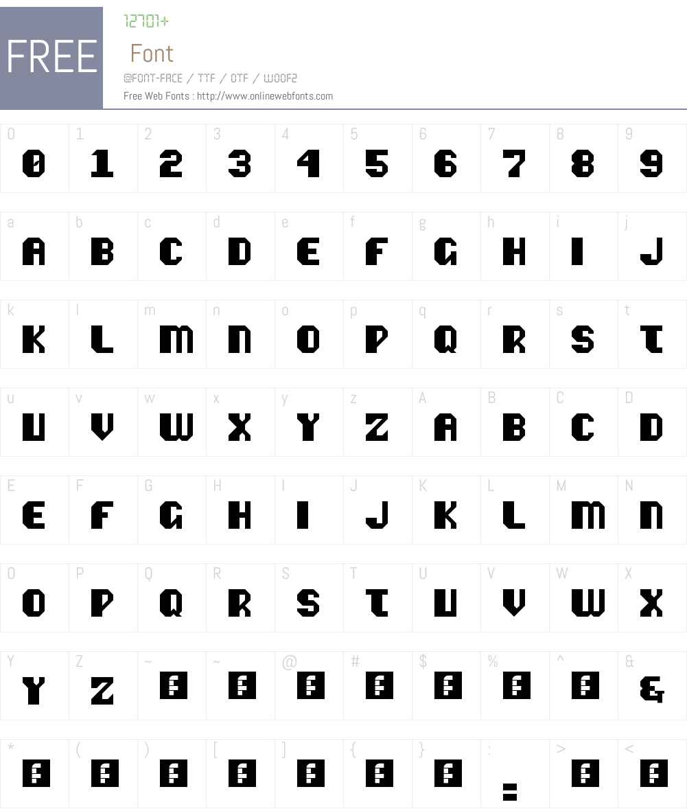 Vipond Octic Font Screenshots