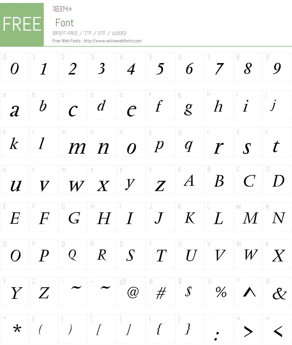 VendomeT Font Screenshots
