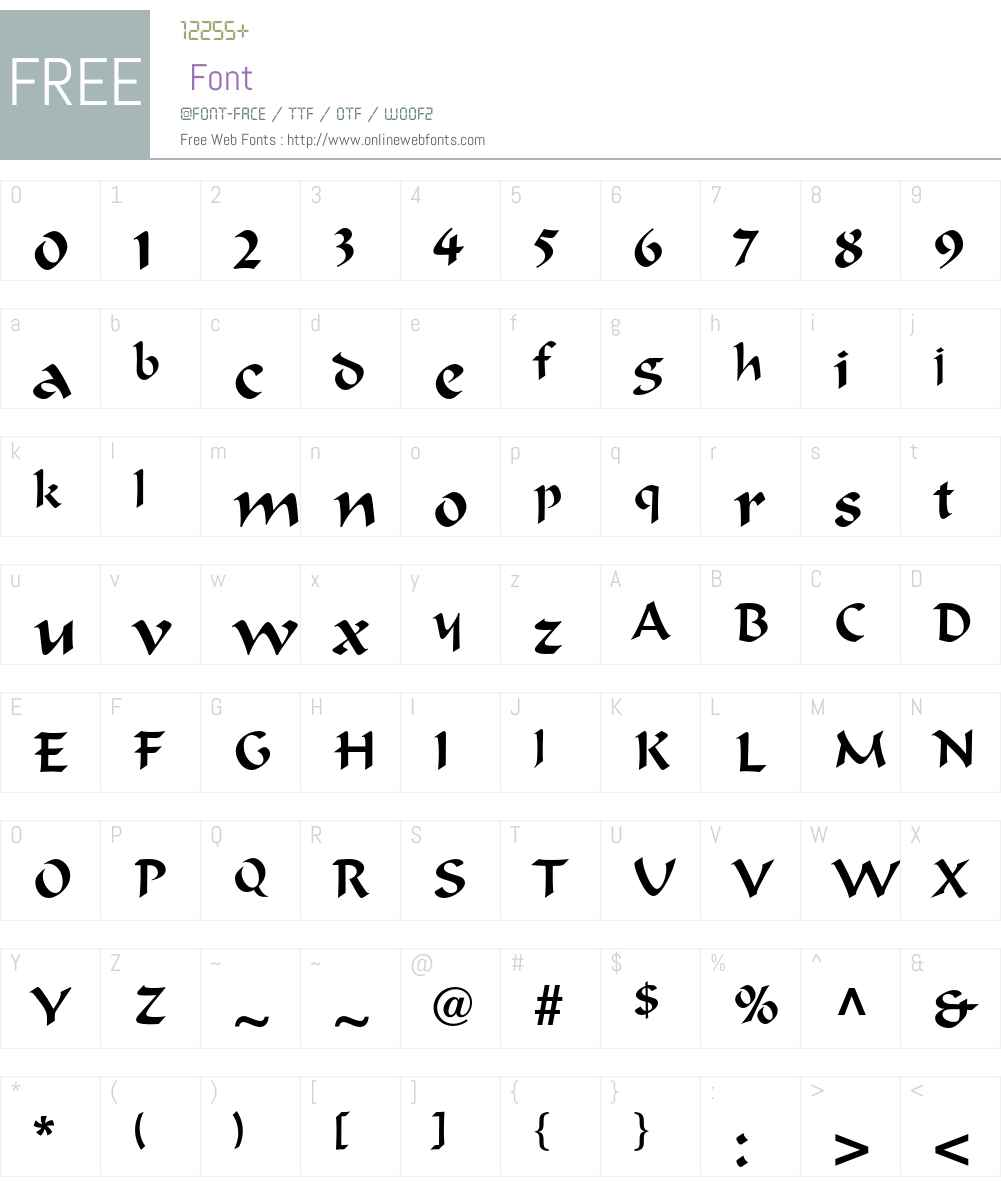 Ondine LT Std Font Screenshots