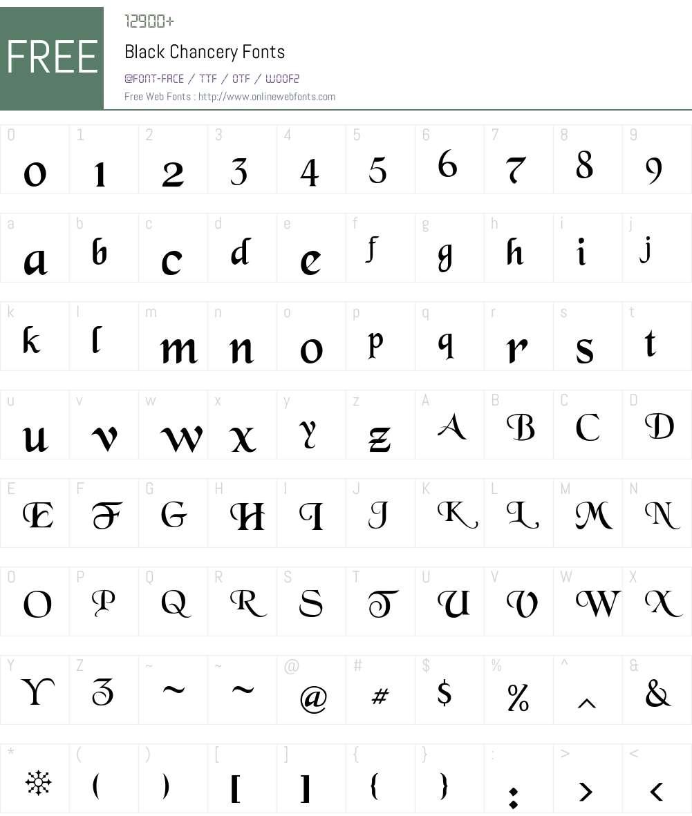 Black Chancery Font Screenshots