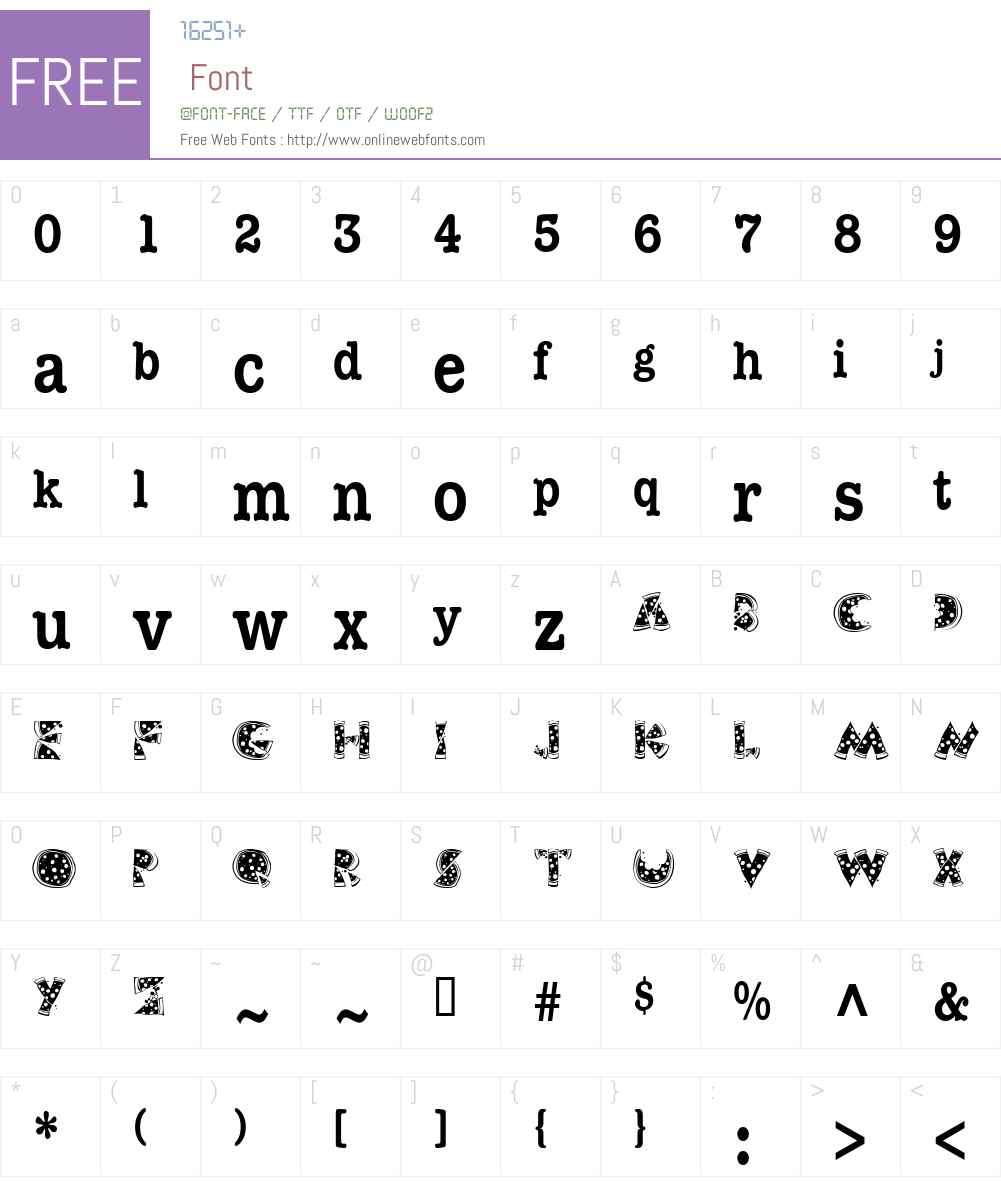 KAPizza Font Screenshots