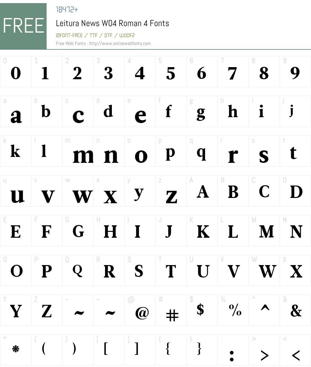 Leitura News Font Screenshots