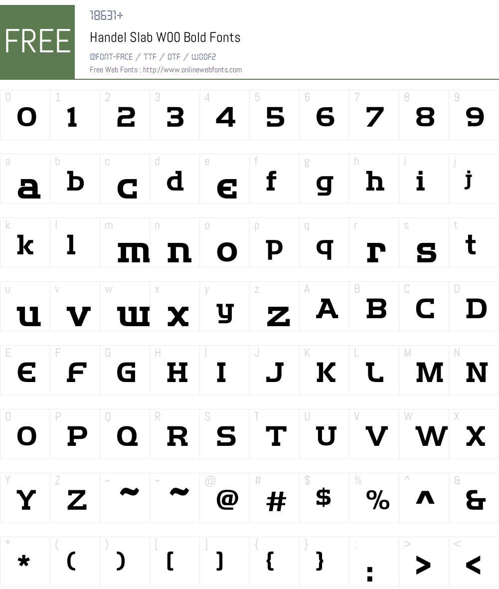 HandelSlabW00-Bold Font Screenshots