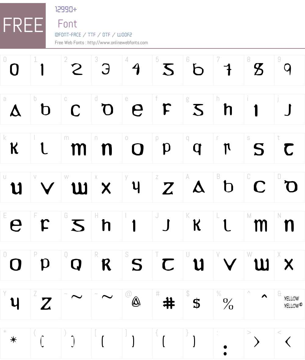 YY Uncial Most Irish Molded Font Screenshots