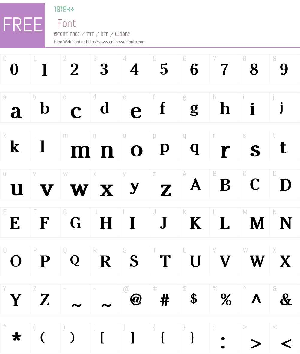 Wedgwooden-Normal Font Screenshots
