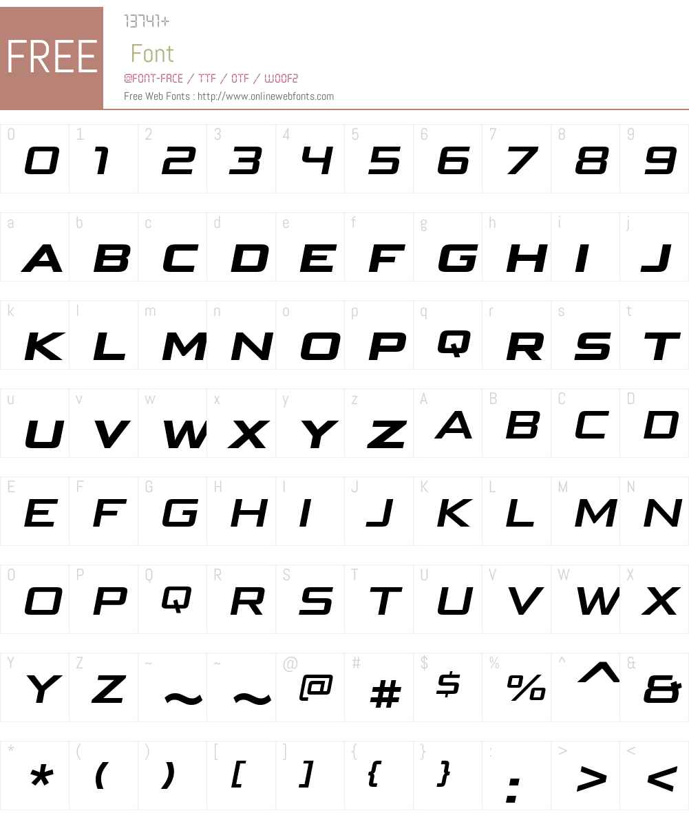 BunkenTechSansSCWideW01-BdIt Font Screenshots