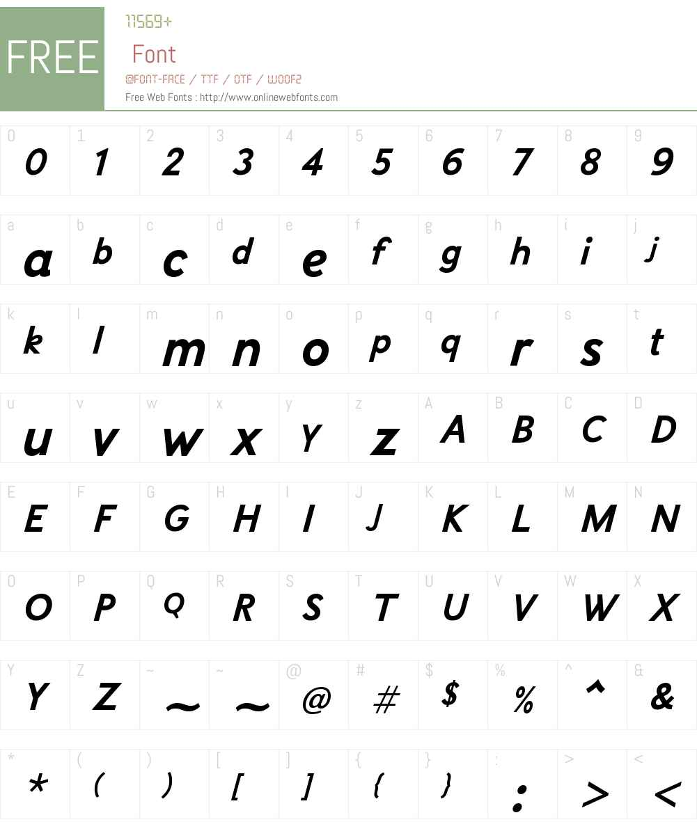 SelficaW01-BoldItalic Font Screenshots