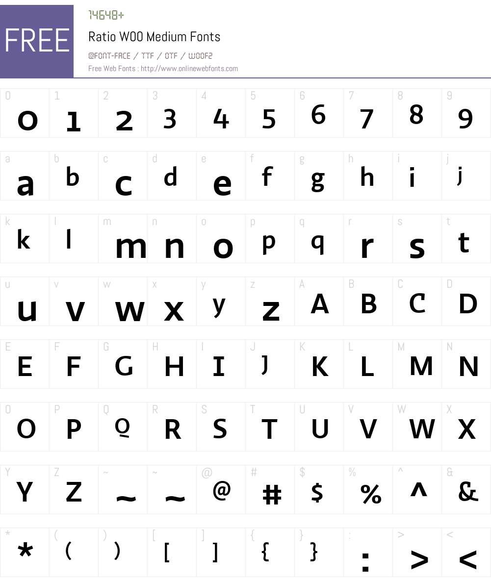 Ratio (p.s.type) Font Screenshots