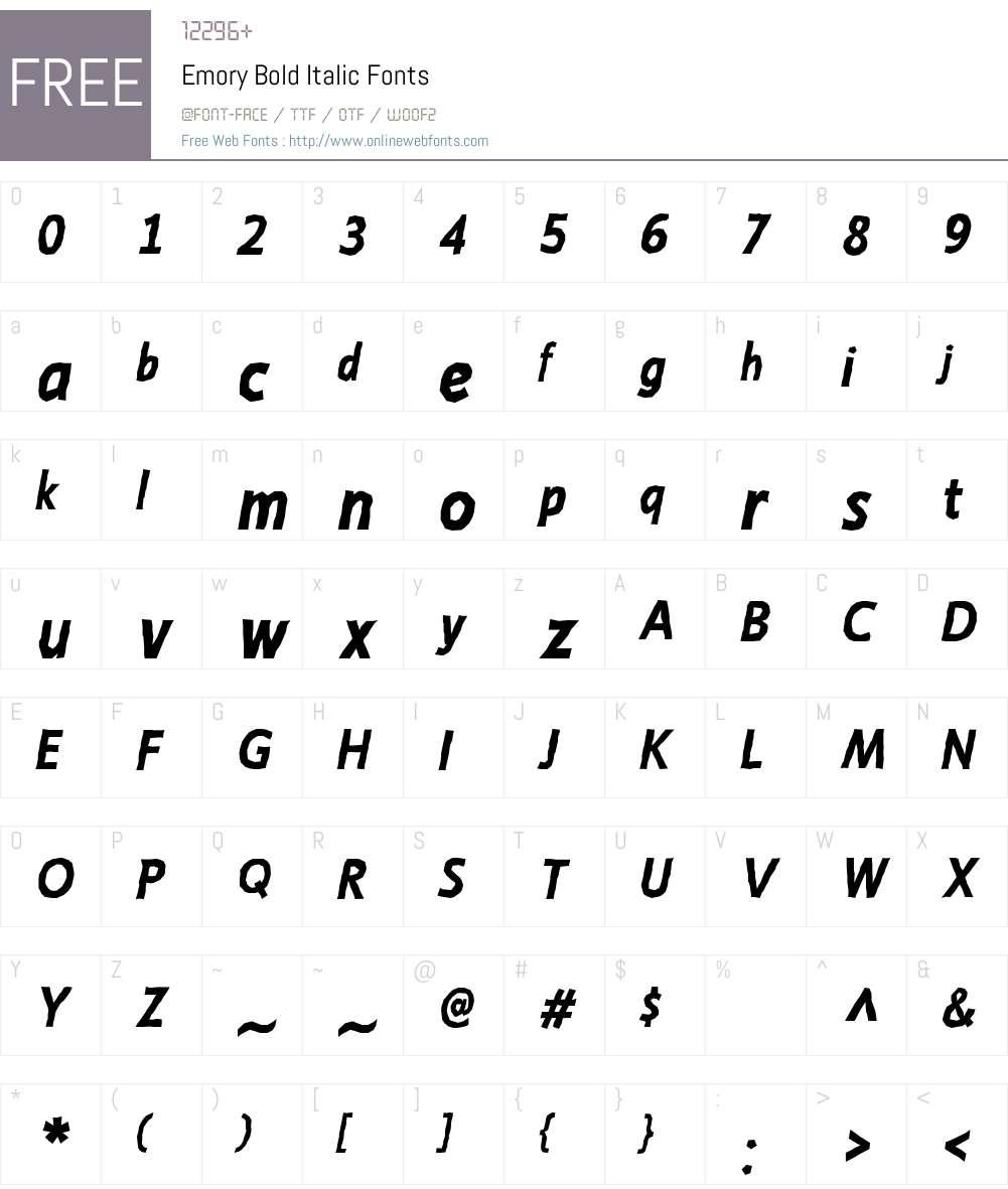 Emory Font Screenshots
