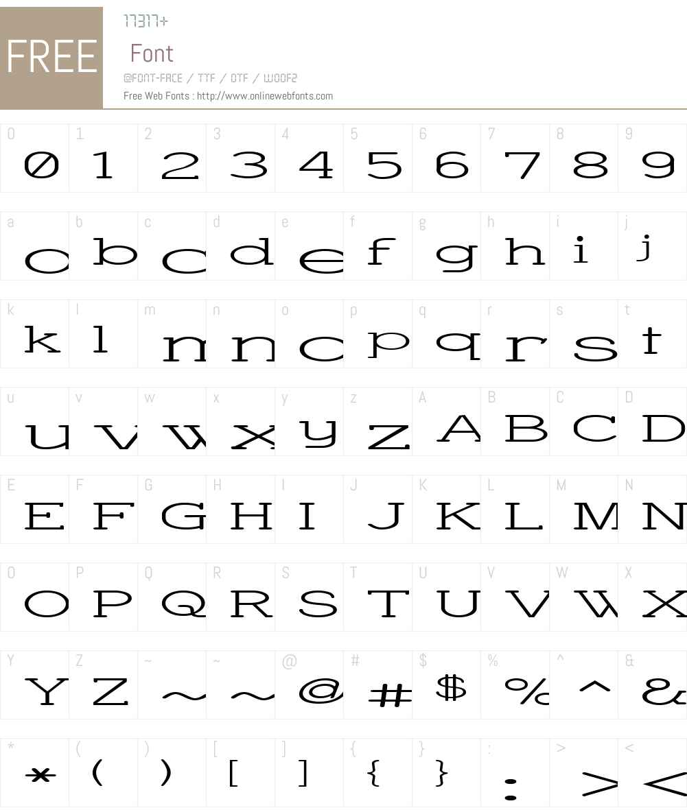 Charrington Superwide Font Screenshots