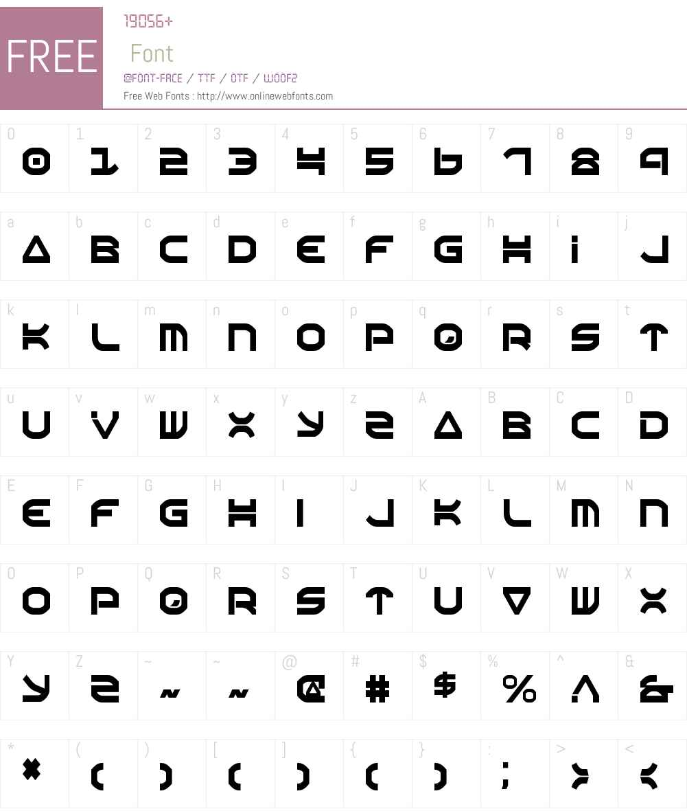 Oberon Condensed Font Screenshots
