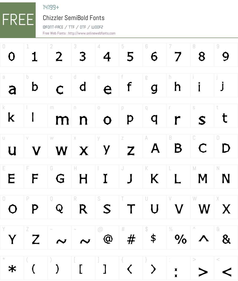 Chizzler SemiBold Font Screenshots