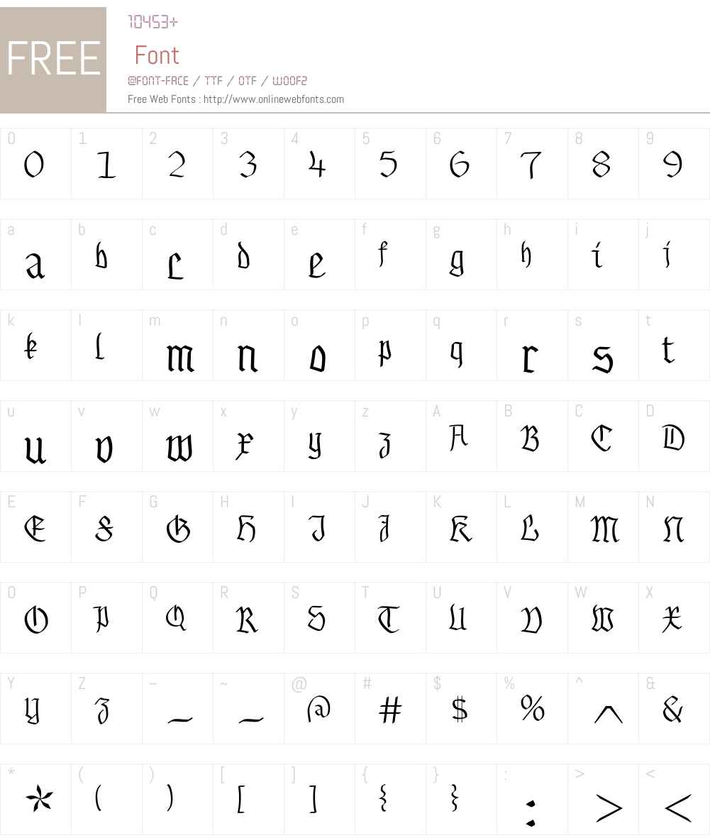 Buchkunst Font Screenshots