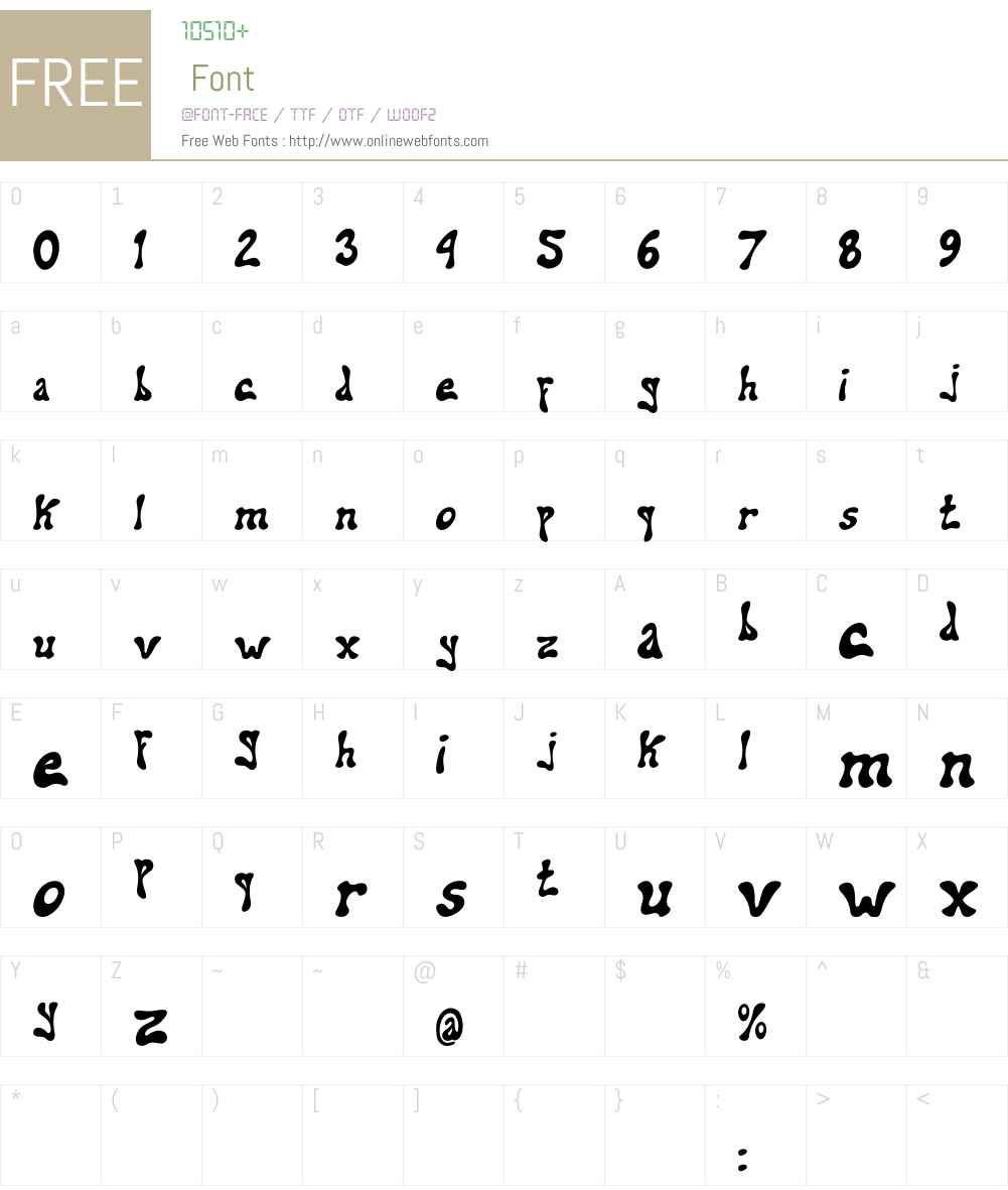 addiel Font Screenshots