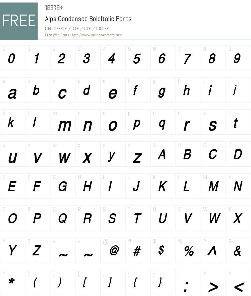 Alps Condensed Font Screenshots